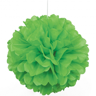 8in Puff Ball - Lime Green