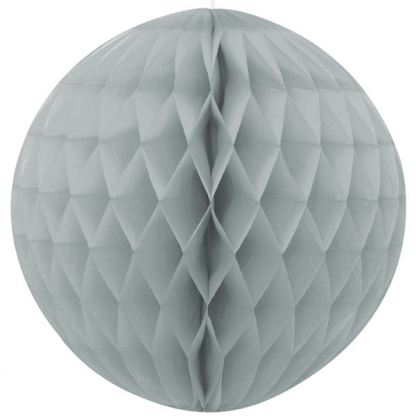 Honeycomb Ball 8in - Silver