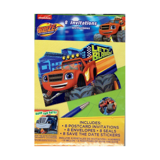 Blaze & The Monster Machines Invitations (8)