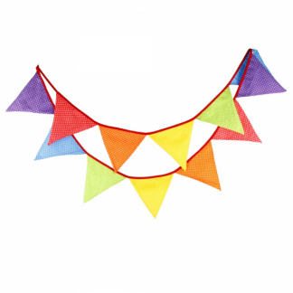 Assorted Fabric Bunting Flags (12)