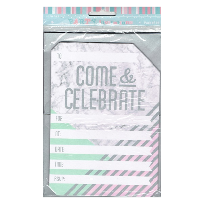 Marble Party Invitations (16)