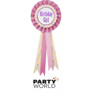 Birthday Girl Rosette Badge