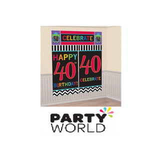 40th Birthday Wall Decorating Kit