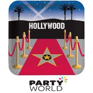 Reel Hollywood Square Paper Plate (8)