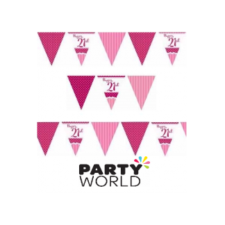 Happy 21st Birthday Pink Bunting