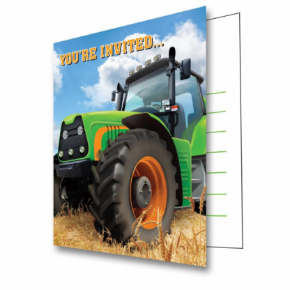 Tractor Time Party Invitations (8)