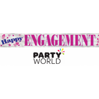 Happy Engagement Foil Banner