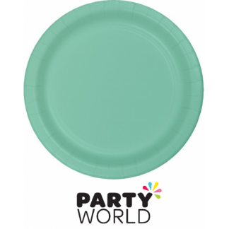 Island Blue Round Paper Plates 9in (8)