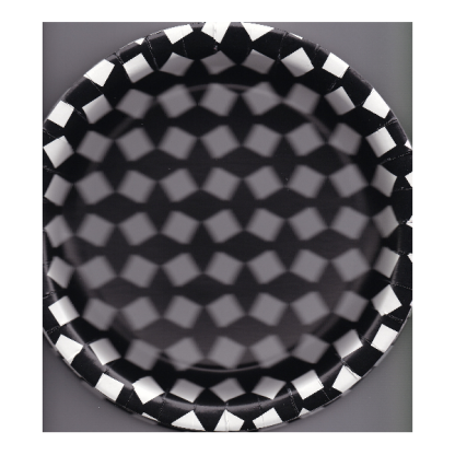 Black and White Patterned Round Plates (8)