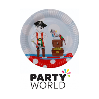 Ahoy Me Hearties Pirate Party Paper Plates (8)