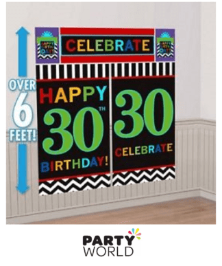 30th wall decorating kit