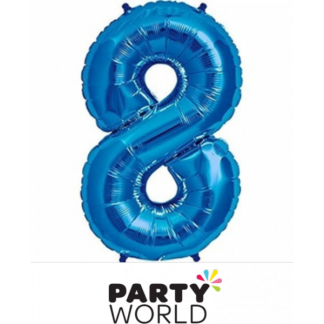 Giant Blue Foil Number Balloon - 8