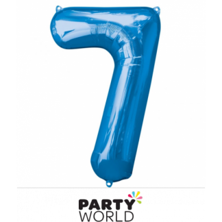 Giant Blue Foil Number Balloon - 7