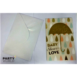 Baby Shower Love Card & Envelope