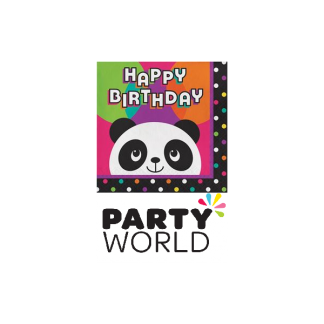 Panda Birthday Luncheon Napkins (16)