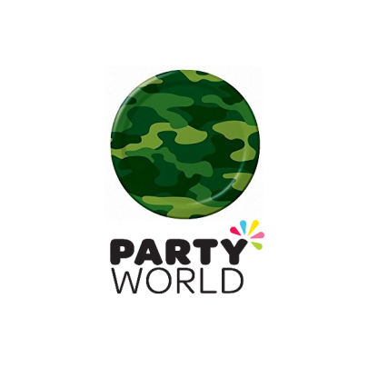 Camouflage Party Paper Plates 7in (8)