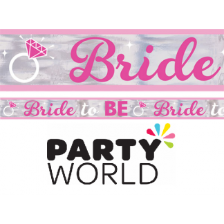 Bride To Be Metallic Banner