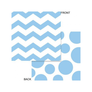 Chevron/Dots Pastel Blue Luncheon Napkins (16)