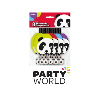 Birthday Panda Party Blowouts (8)