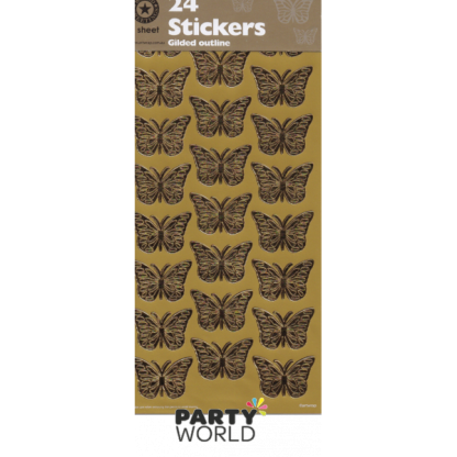 Gold Butterfly Stickers (24)