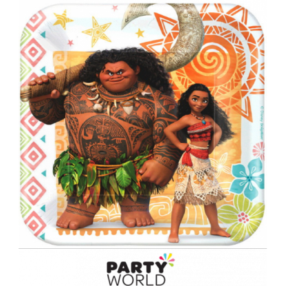 Moana Paper Plates 7in (8)