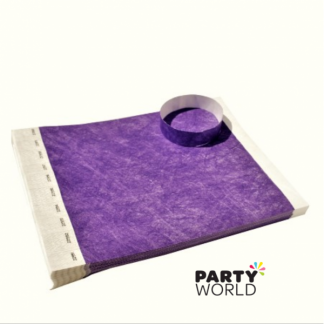 Purple Disposable Tyvek Security Wristbands (12)