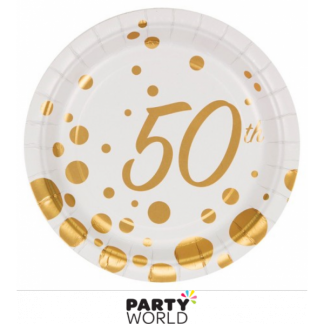 50th Sparkle & Shine Paper Plates 7in (8)