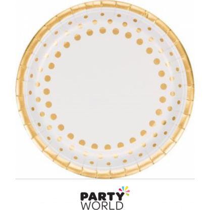 Sparkle & Shine Paper Plates Gold 9in (8)