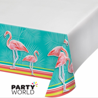 Island Oasis Flamingo Plastic Table Cover