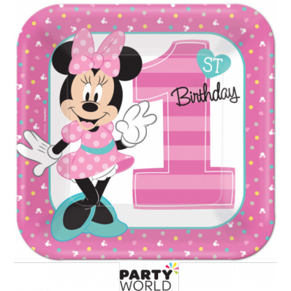Minnie's Fun To Be One Paper Plates 9in (8)