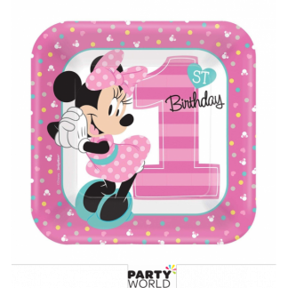 Minnie's Fun To Be One Paper Plates 7in (8)