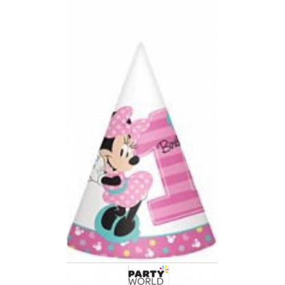 Minnie's Fun To Be One Party Hats (8)