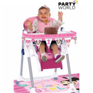 Minnie's Fun To Be One High Chair Decorating Kit