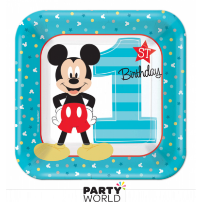 Mickey's Fun To Be One Paper Plates 7in (8)
