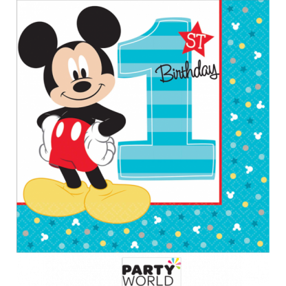 Mickey's Fun To Be One Beverage Napkins (16)