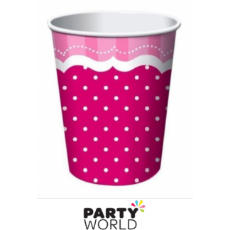 Perfectly Pink Paper Cups (8)