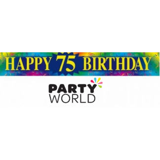 Happy 75th Birthday Foil Banner