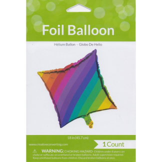 Rainbow Metallic Foil Balloon