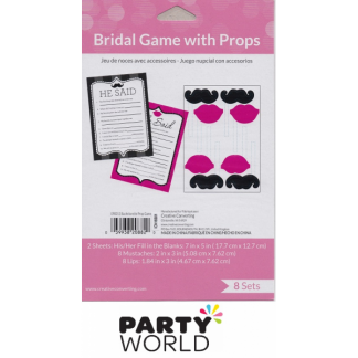 Bachelorette Party Prop Game