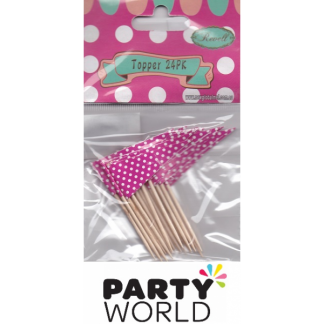 Pink Polkadot Flag Picks (24)