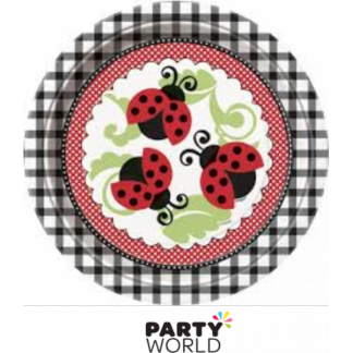 Lively Ladybugs 9in Paper Plates (8)