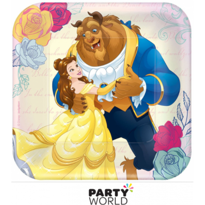 Beauty and the Beast 7in Square Plates (8)