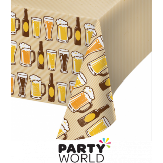 Cheers & Beers Plastic Table Cover
