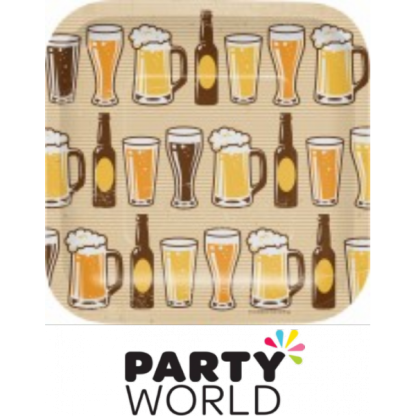 Beers & Cheers 7 inch Square Paper Plates
