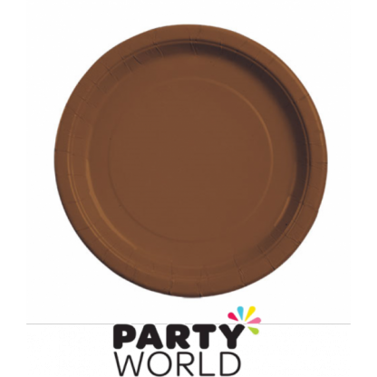 Brown Paper Plates 7 inch (8)