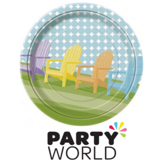 Sunny Chairs 9in Paper Plates (8)