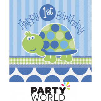 First Birthday Turtle Luncheon Napkin (16)