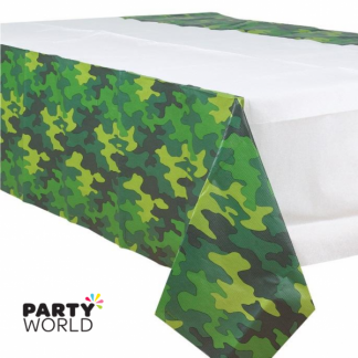 Camouflage Party Plastic Tablecover