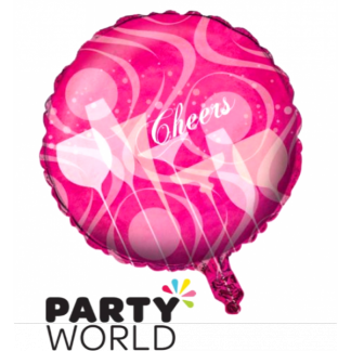 Cheers Foil Balloon - Pink