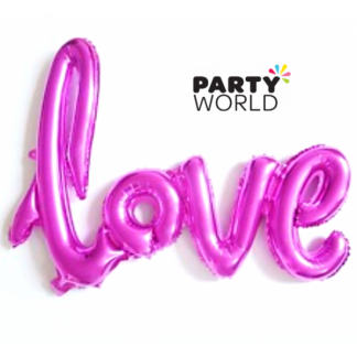 Hot Pink Love Air-Filled Foil Balloon